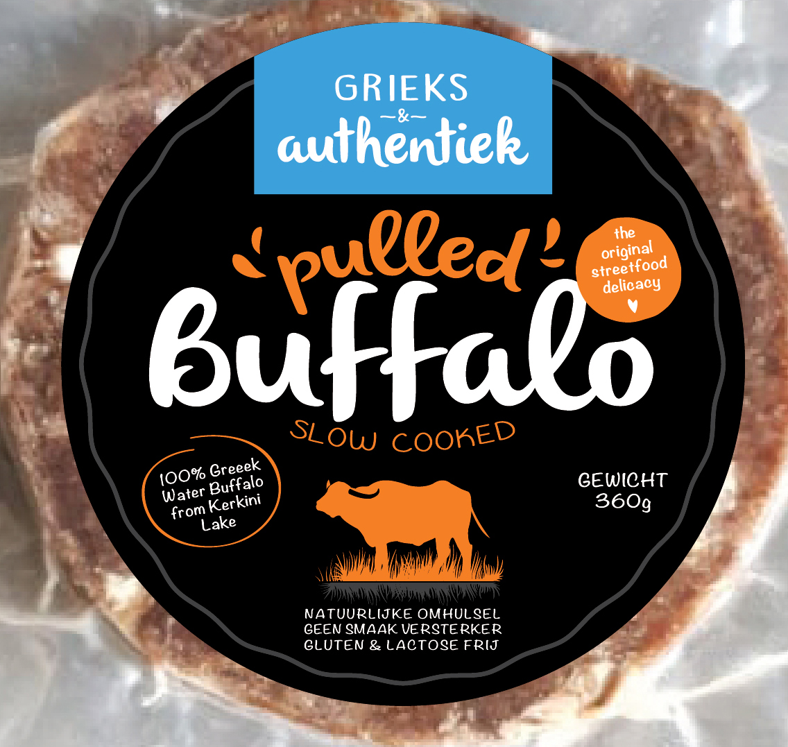 Grieks & Authentiek Pulled buffalo package