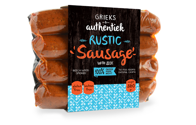 sausage packaging graphic illustration