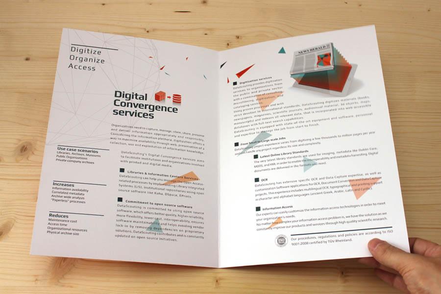 a4 bifold brochure open