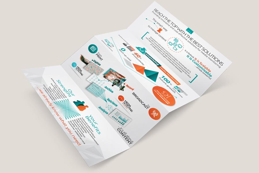 four folded brochure